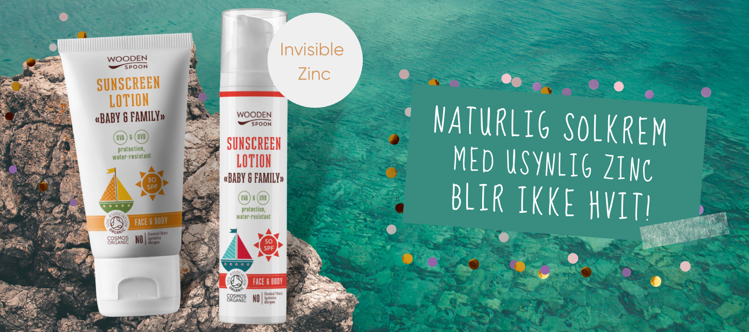 Wooden Spoon naturlige solkremer med invisible zinc