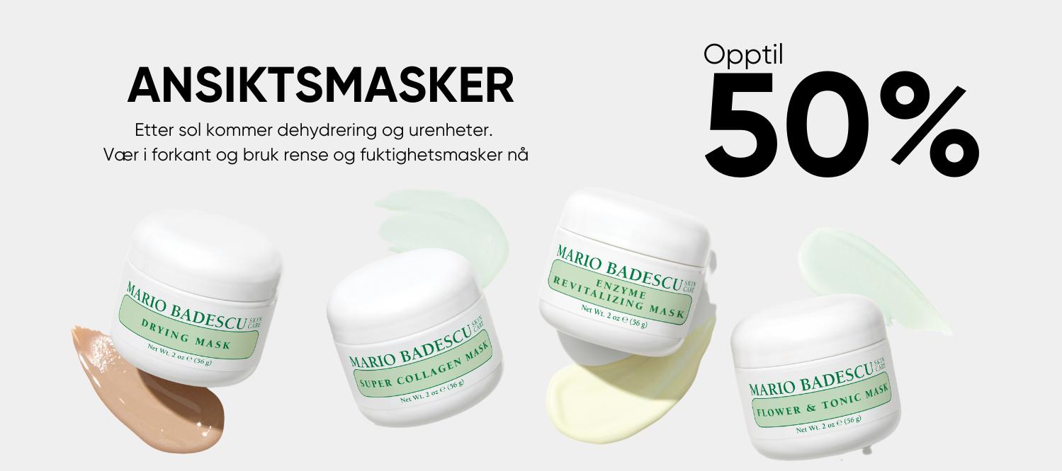ansiktsmasker opptil 50% rabatt