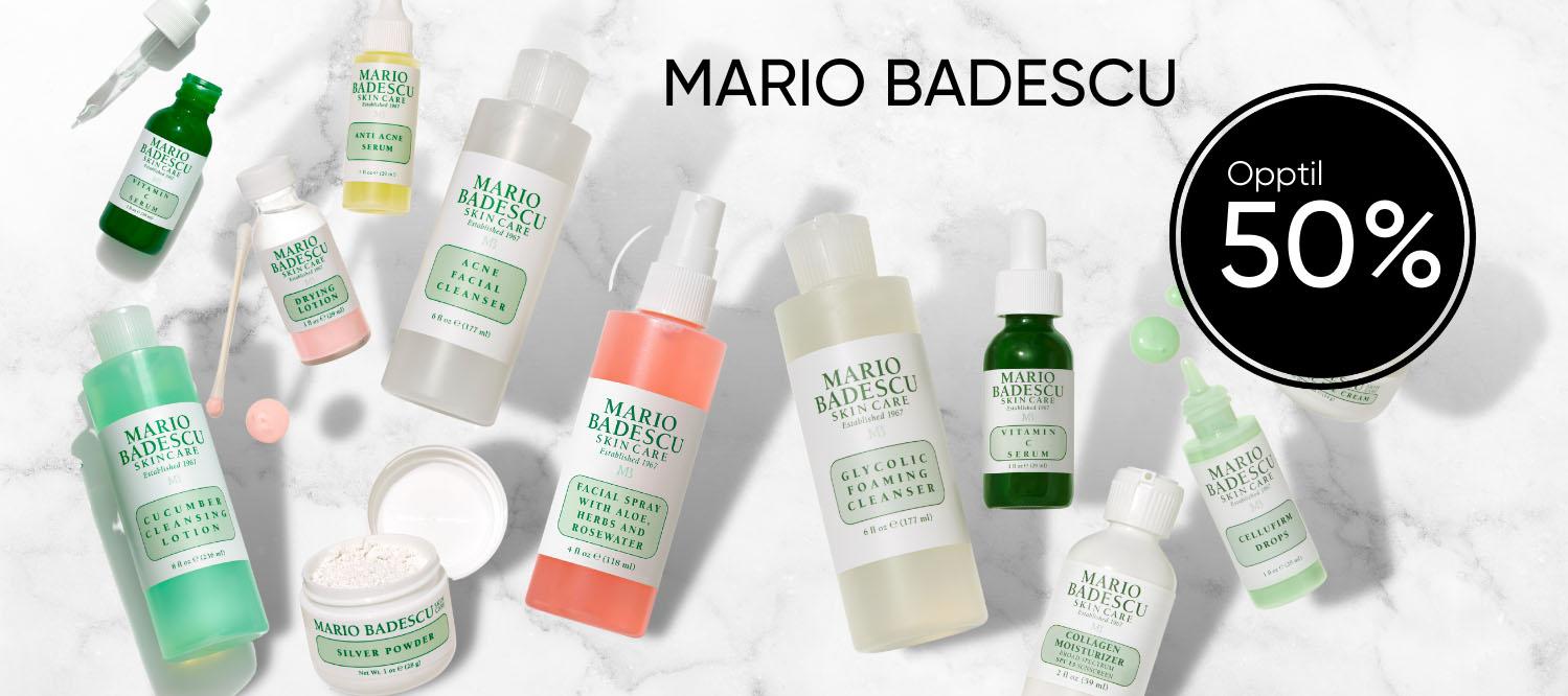 Mario badescu opptil 50 % rabatt